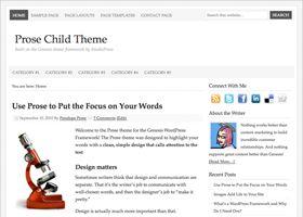StudioPress Genesis en Prose Theme